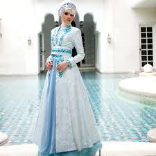 gaun pengantin muslimah by dian pelangi