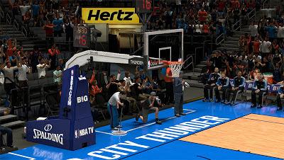 NBA 2K13 Oklahoma City Thunder Backboard Court Patch