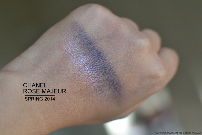 Chanel Rose Majeur 70 Ombres Constraste Eyeshadow Duo - Chanel Notes de Printemps Makeup Collection Spring 2014 - Swatches Photos Review Looks