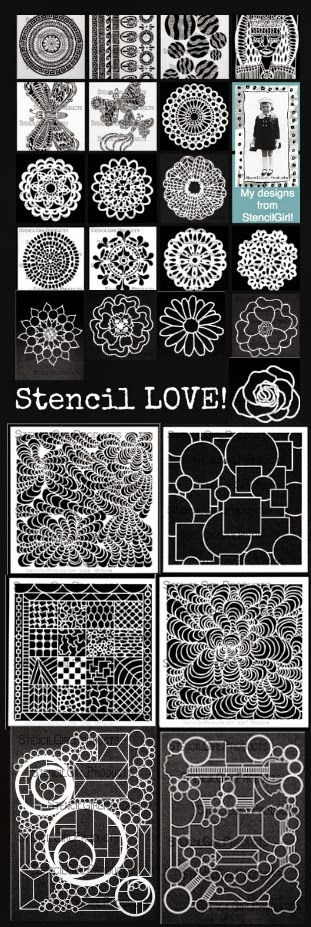 My Stencil Designs from StencilGirl
