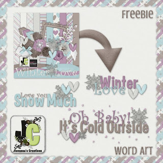 FREE: Mini Kit, Glitter Papers & Word Art!