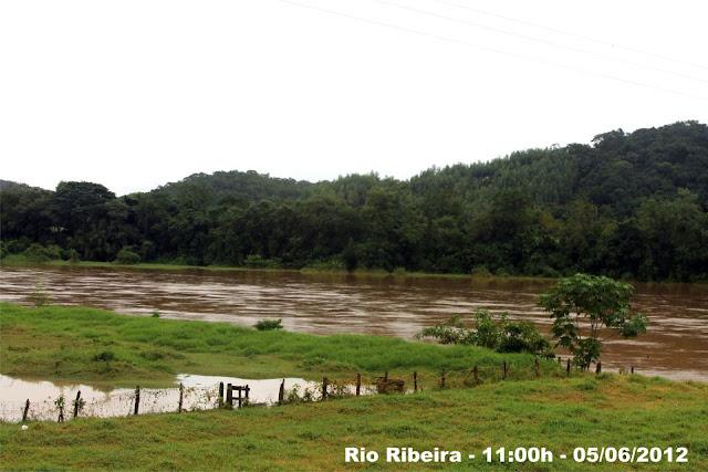 Rio Ribeira em Eldorado-SP ás 11:00hs -05/06/2012