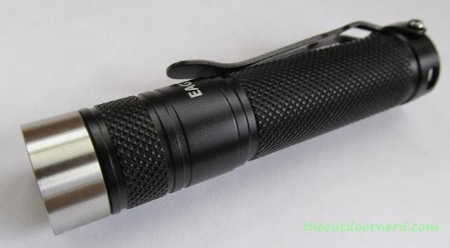 Eagletac D25A Mini 1xAA Flashlight: Closeup Of Bezel