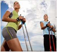 Bastões técnicos de Nordic Walking