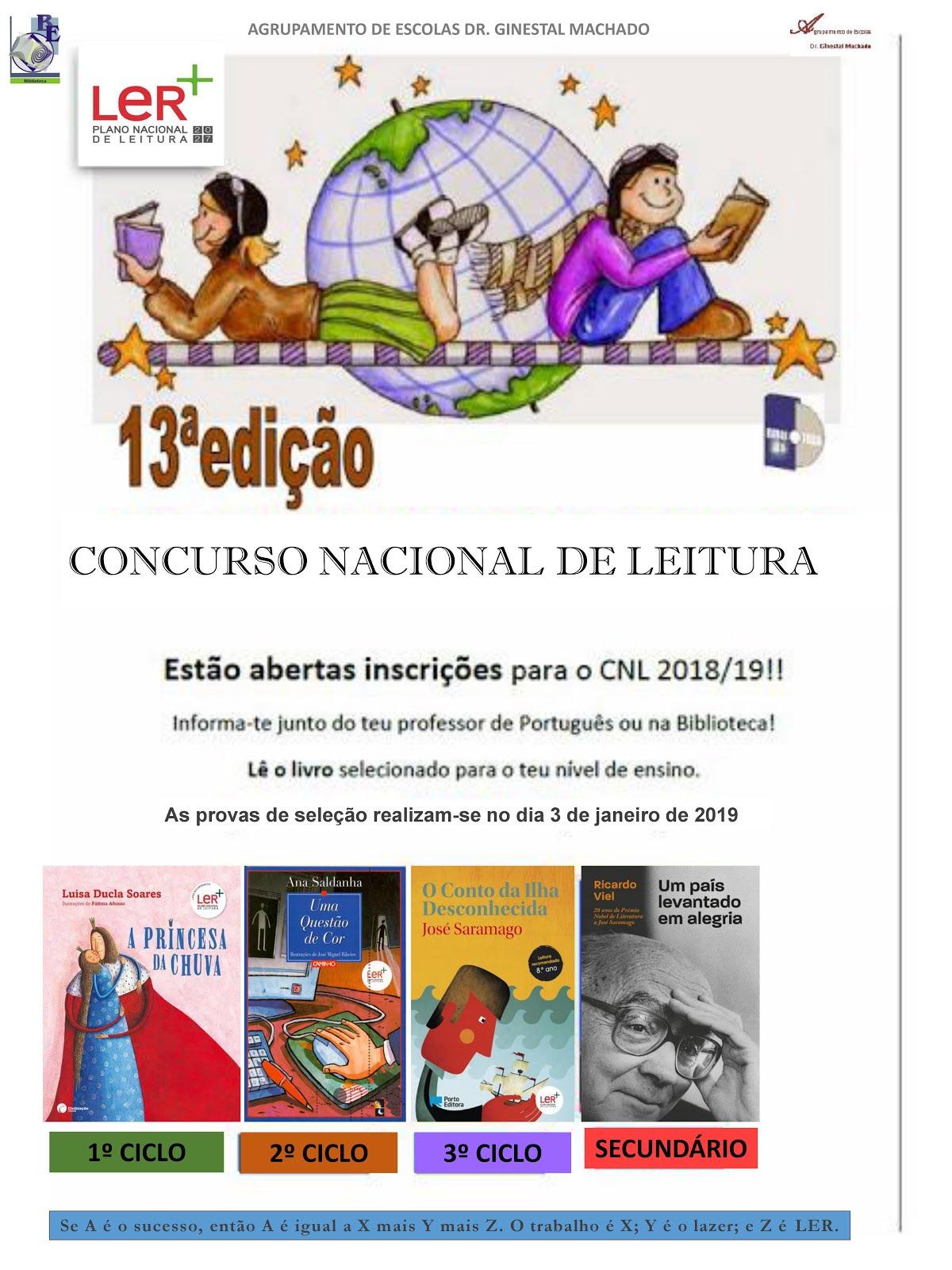 Concurso Nacional de Leitura 2018/2019