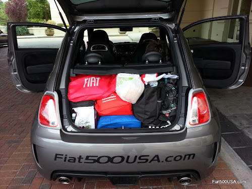 Fiat 500 Abarth Trunk Room