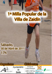 Clasificaciones 1 Milla Popular de la Villa de Zaidn