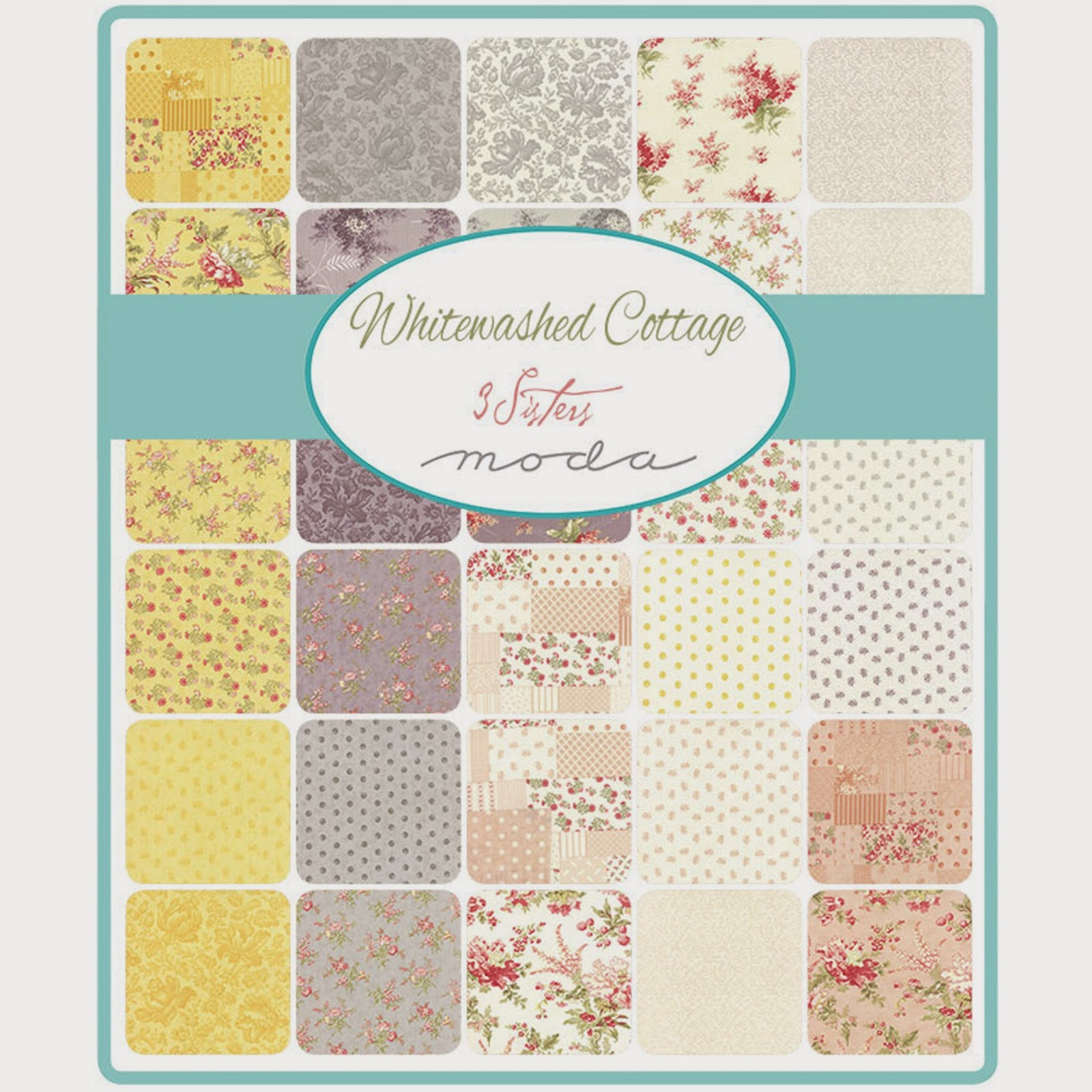 Moda WHITEWASHED COTTAGE Fabric by 3 Sisters for Moda Fabrics