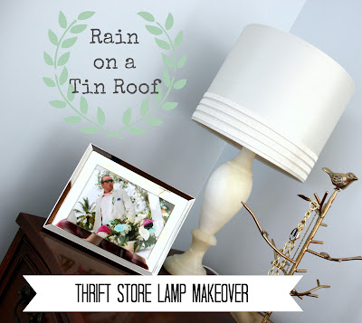 Thrifted Lamp Makeover {rainonatinroof.com} #lamp #makeover #thrift