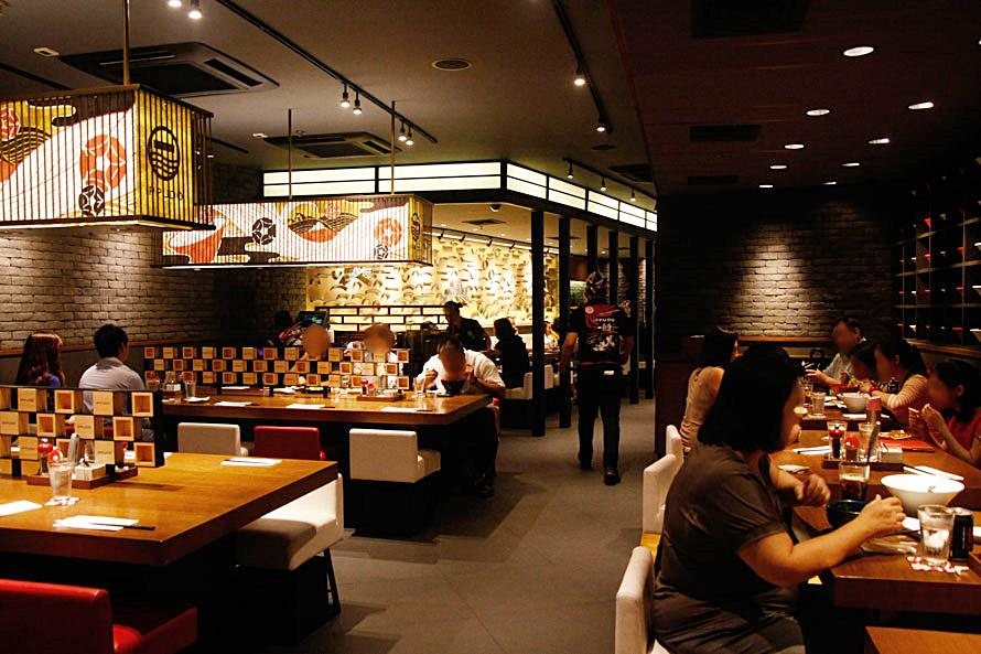 Ippudo Manila SM Megamall Fashion Hall dining area