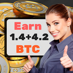 Turn 0.002 btc into 1.4 +4.2 BTC