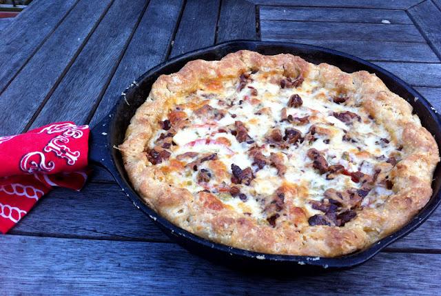 Tomato, Bacon & Jalapeno Pie at Turkey Scratch