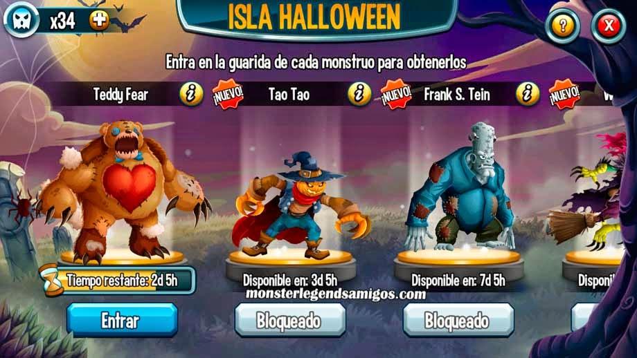 imagen de las misiones de la isla halloween de monster legends