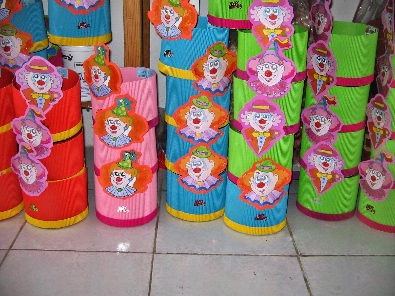 enfeites para festas infantis feitos de reciclagem