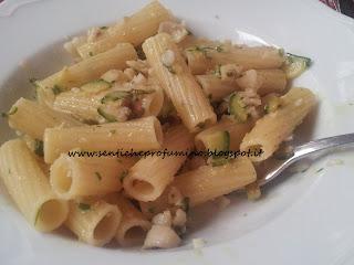 Primo con filetto di gallinella e zucchini