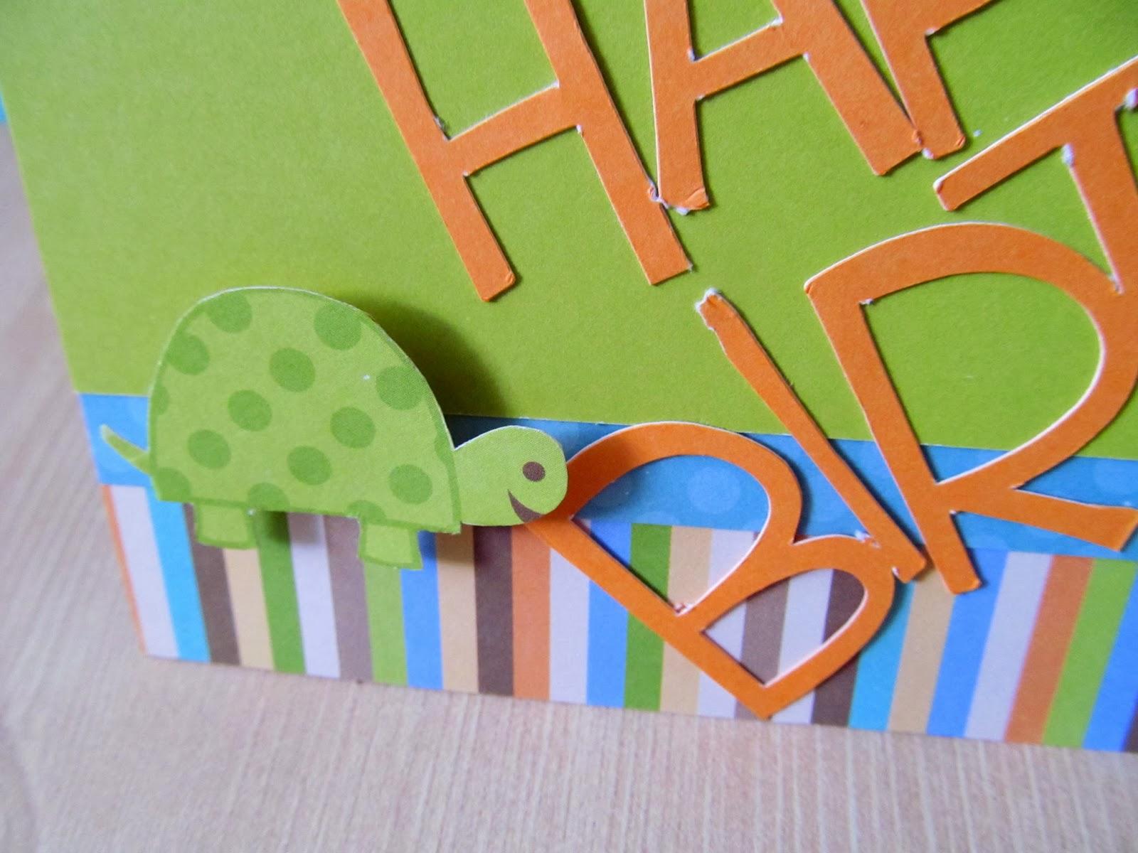 Happy Turtle Birthday Card for a Boys Birthday!