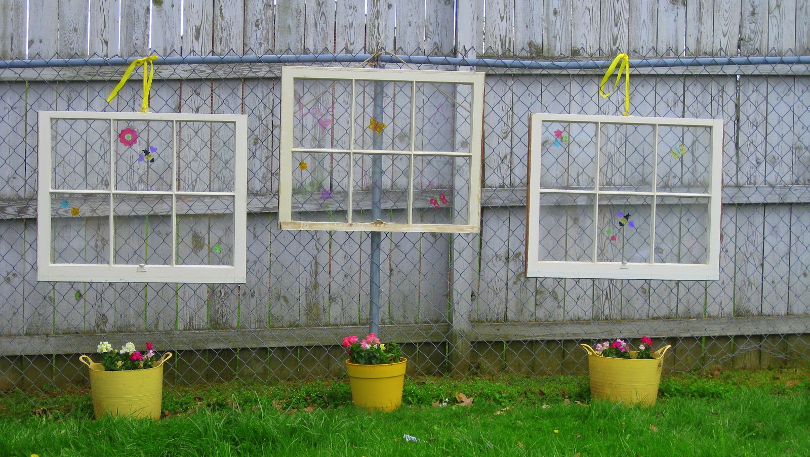 Downtime upcycle garden decorations