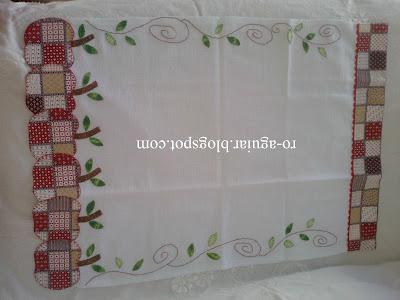 artesanato em patchwork - pano-de-prato - maçã