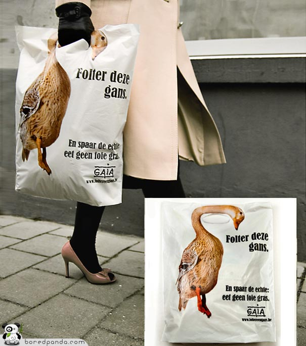 Duck neck Plastic Bag