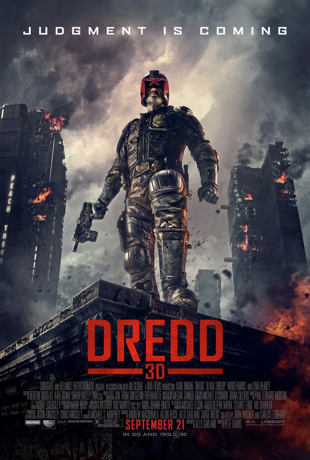 So much frowning karl urban s judge dredd in the recent reboot simply titled dredd 2012 is obviously a bit of a caritcature but there s something about