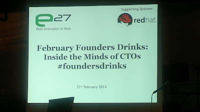 Founders Drinks e27, Singapore, Redhat, Social Media Week, CTOs