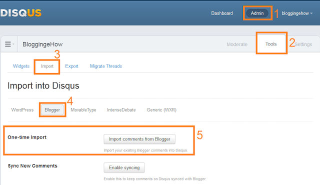 Blogger to Disqus comment import