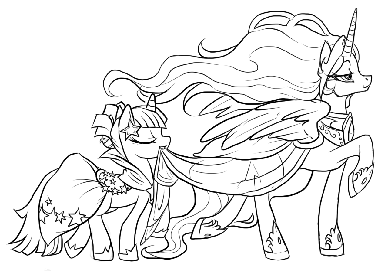 Coloriage My Little Pony Cadence Free Online My Little Pony