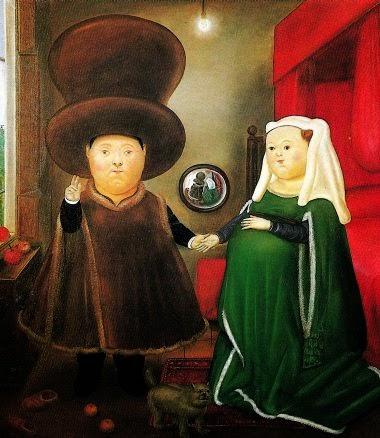 Les époux Arnolfini de Botero