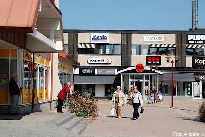 Mark, Marks kommun, Mor Kerstins torg, torget, stora torget, affär, affärscentrum, centrum, stortorget, Kinna