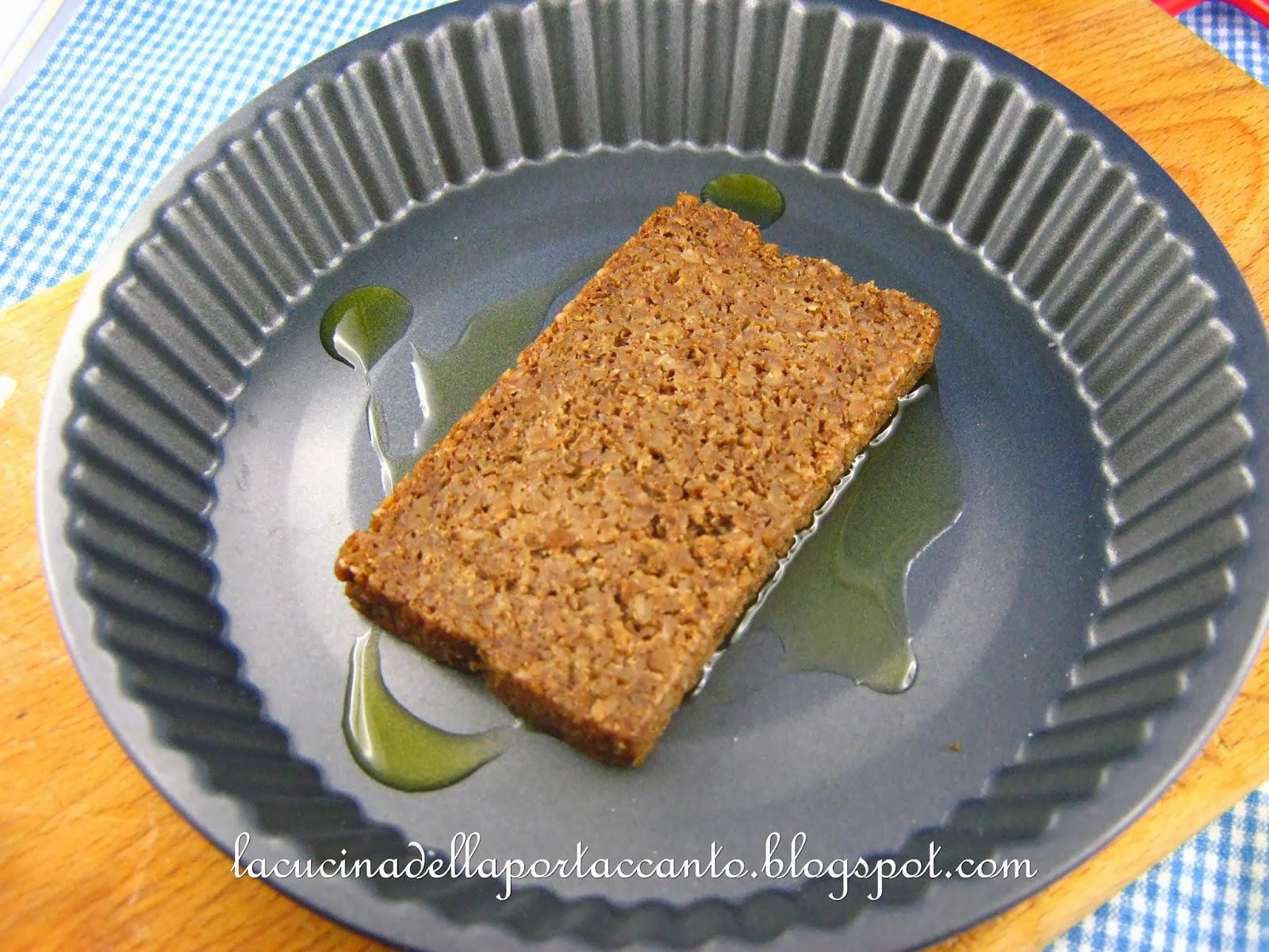 Lasagna di pane nero di segale integrale con mozzarella e for Cuisine integrale