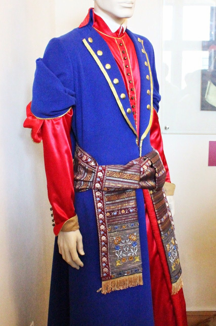 Sluck sash as a part of a noble man's costume, reconstruction