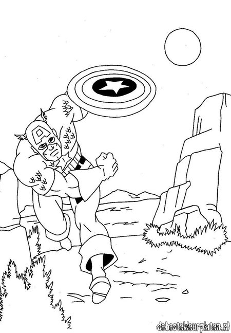 Captain America  Avengers Coloring Pages for Kids  Disney