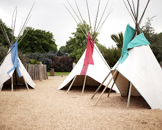 Teepee Play area at Princess Diana Memorial Playground