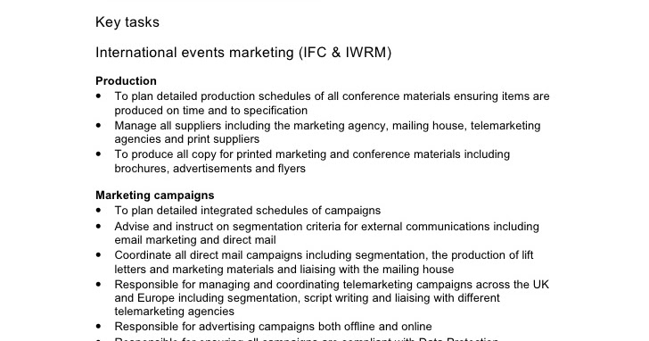 Marketing Operations - Email Marketing Manager Job Description