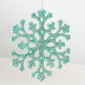 Glittered snowflakes by Torie Jayne