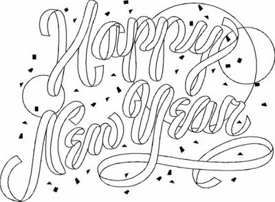 Merry Christmas And Happy New Year Coloring Pages Merry And Happy New Year Coloring Pages