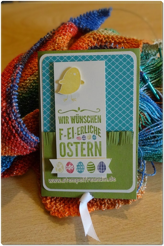 Anleitung, Feierliche Ostergrüße, Frühlingsmini, Sale a Bration, Schiebekarte, Stampin up, Ziehkarte, www.stempelfreundin.de