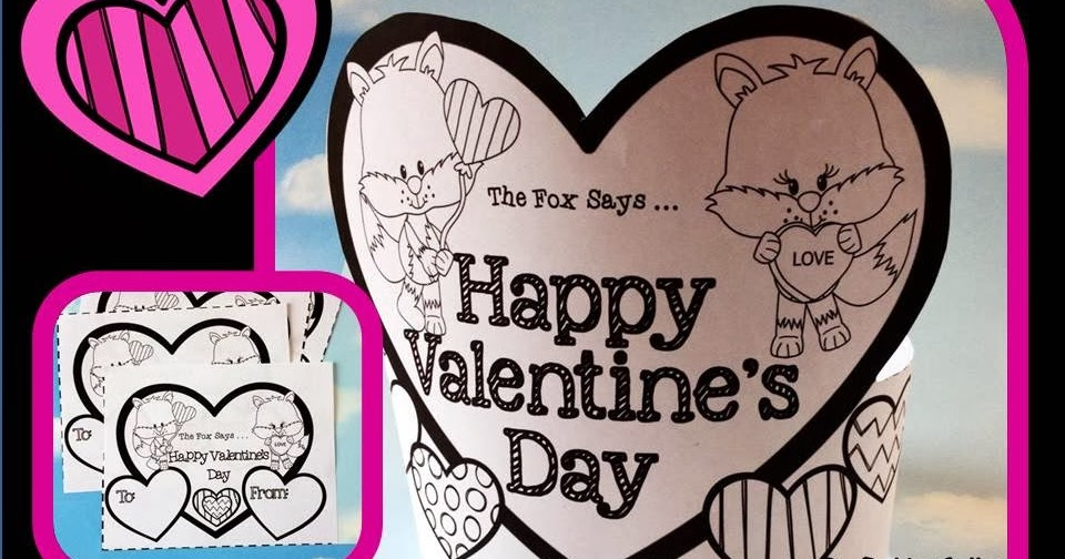 Sweet Tea Classroom: Valentineu0027s Day Hat And Black And White Printable  Valentine Cards With A Fox
