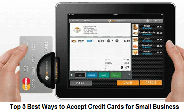 Top 5 best ways to accept credit cards for small business for Credit card acceptance for small business