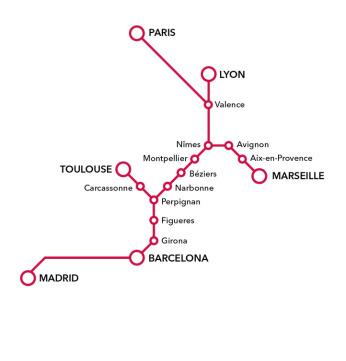 Dicas pr ticas de franc s para brasileiros viajar de trem for Distancia barcelona paris
