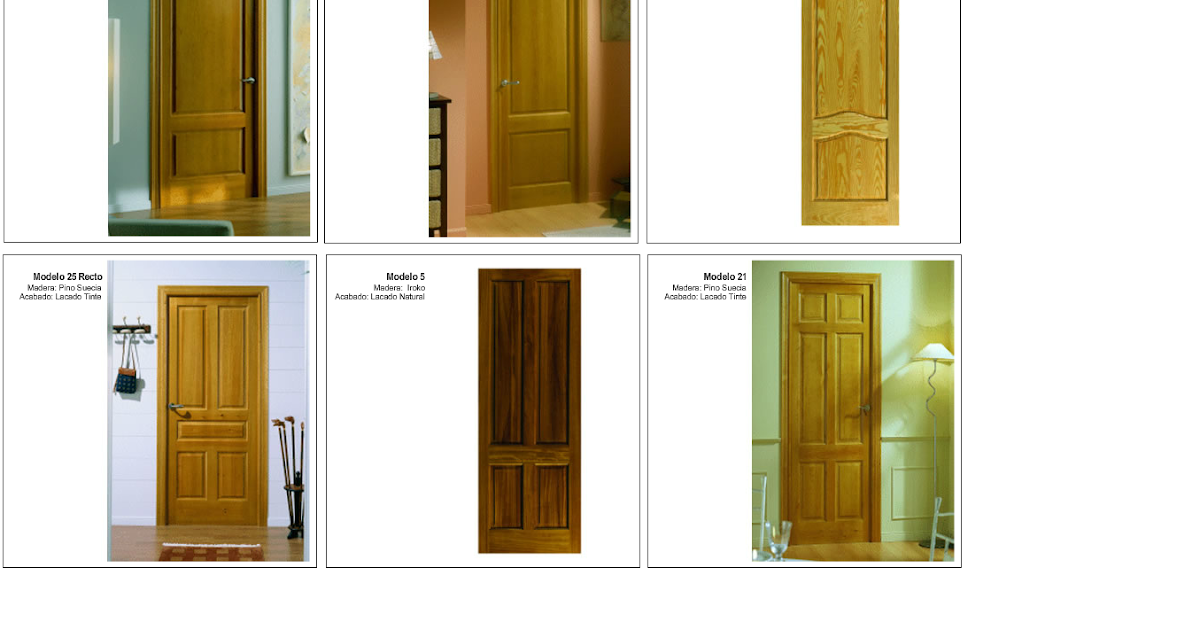 Made of wood puertas de interior en madera maciza series for Puertas madera maciza