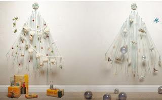 Новогодняя елка настенная