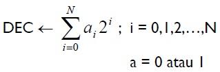 konversi bilangan desimal
