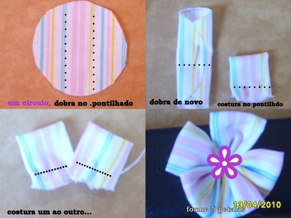 Bolsa De Fuxico Passo Apasso : Galerinha on line flores de fuxico passo a