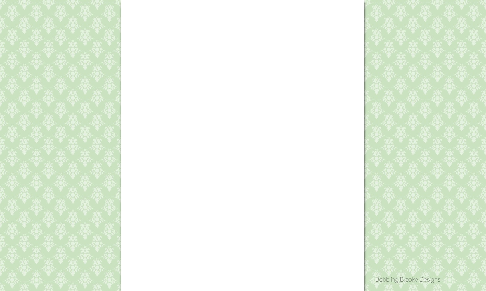 Mint Green Damask Wallpaper