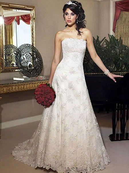 Model gaun pengantin modern lace