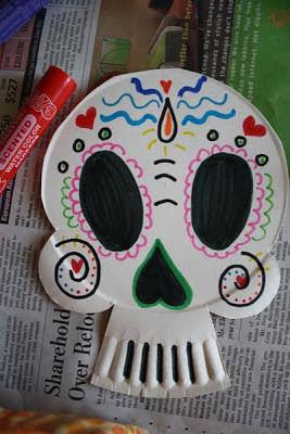 9 diy con calaveras mexicanas elenarte for Day of the dead crafts for preschoolers