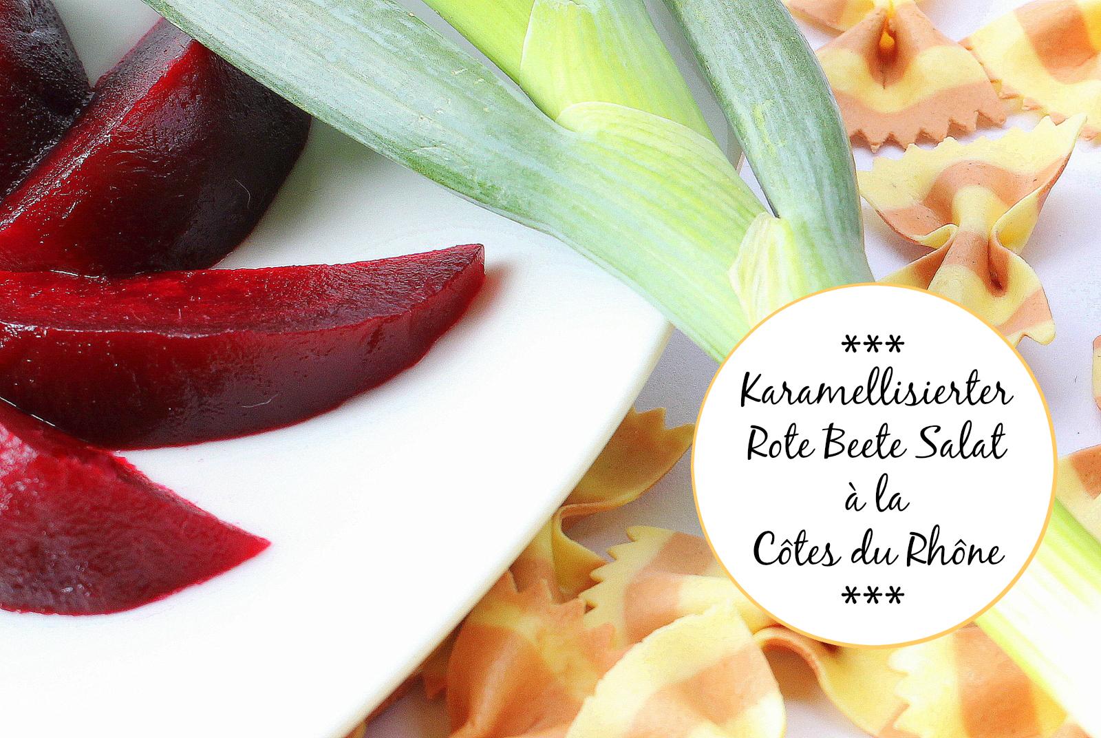 Nudelsalat mit Rotwein