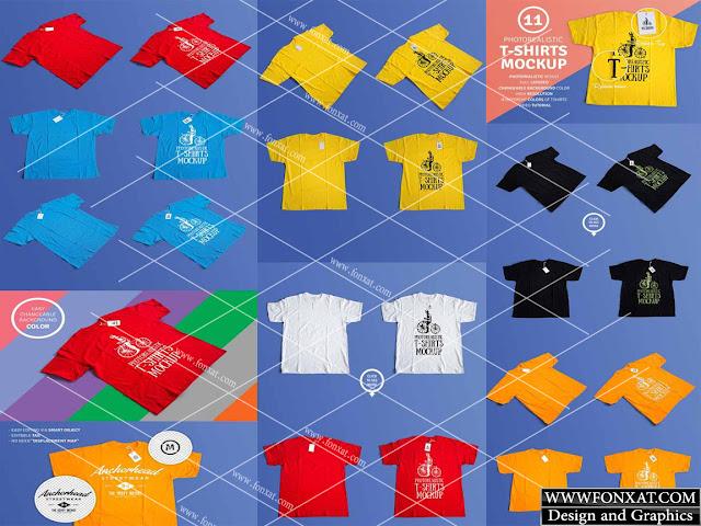 mock up T-shirt color