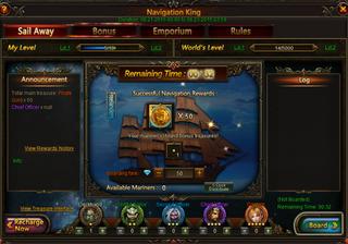 League of Angels Navigation King